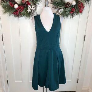 Adelyn Rae Teal Fit & Flare Dress Medium i15